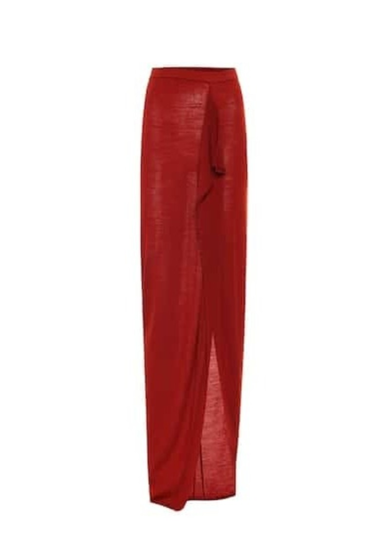 Rick Owens Wool maxi skirt