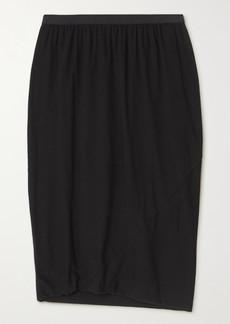 Rick Owens Wrap-effect Jersey Skirt