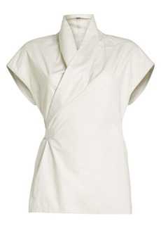 Rick Owens Wrap Shirt in Cotton