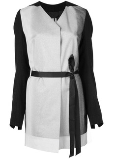 Rick Owens wrap-style belted coat