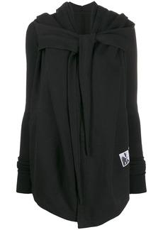 Rick Owens wrap style hoodie jacket