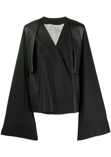 Rick Owens wrap style trench coat