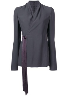 Rick Owens wrapped-front blouse