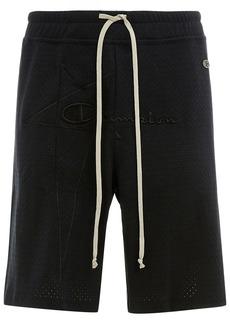 Rick Owens x Champion logo-embroidered track shorts