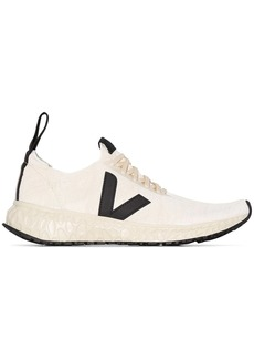 Rick Owens x Veja white knit low top sneakers