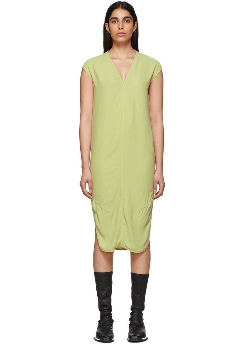 Rick Owens Yellow V-Neck Dress