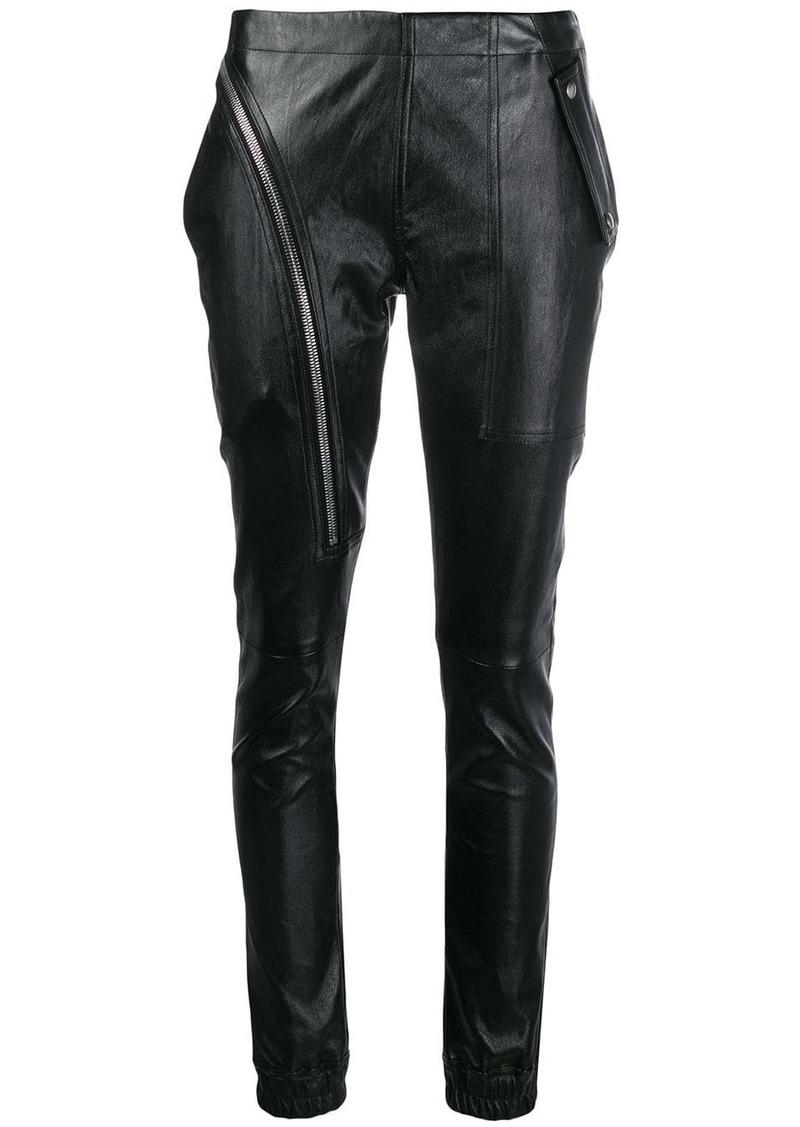 Rick Owens zip detail trousers