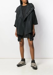 Rick Owens zip front cape jacket