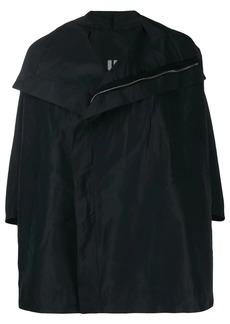 Rick Owens zip front cape jacket