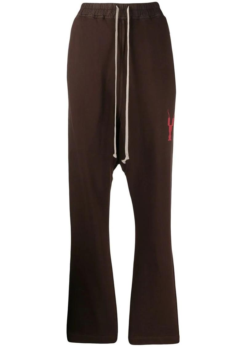 Rick Owens dropped crotch track pants