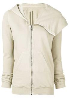Rick Owens zip front logo hoodie