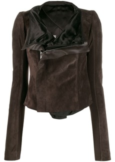 Rick Owens zipped fitted biker jacket