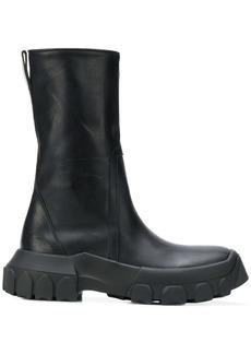 Rick Owens zipped mid-calf boots
