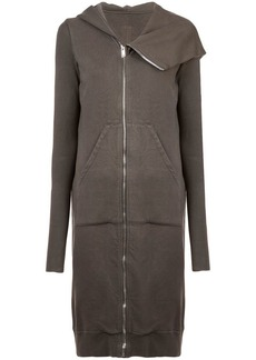 Rick Owens zipped mid-length hoodie