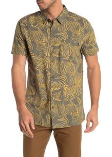 Rip Curl El Tigre Tiger Printed Short Sleeve Regular Fit Shirt
