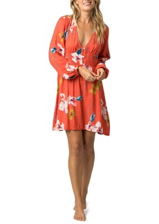 Rip Curl Beach Bella Long Sleeve Floral Minidress