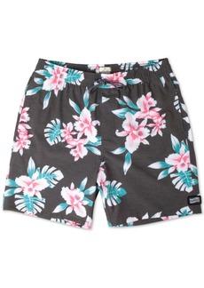 "Rip Curl Easy Livin' Bright Floral Print 18"" Swim Trunks"