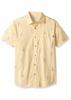 Rip Curl Men's Amigos Short Sleeve Button Up Shirt  M