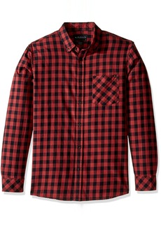 Rip Curl Men's Checked Out Long Sleeve Woven Shirt  S