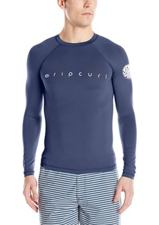 Rip Curl Men's Dawn Patrol Uv Tee Long Sleeve Rashguard Navy 2XL