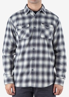 Rip Curl Men's Draco Regular-Fit Ombre Plaid Flannel Shirt