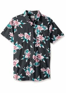 Rip Curl Men's Easy Living Short Sleeve Button Up Shirt  XL