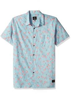 Rip Curl Men's FLAMINKO SS Shirt Aqua L