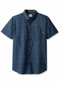 Rip Curl Men's Flower Shop Short Sleeve Button Up Shirt  M