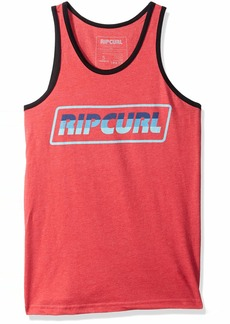 Rip Curl Men's Full Throttle Ringer Tank red L