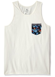 Rip Curl Men's Mack Heritage Pkt Tank Off White (OFW) L