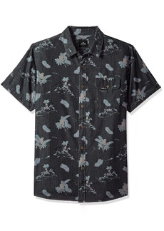 Rip Curl Men's MELODRONE SS Shirt Charcoal XL