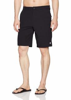 "Rip Curl Men's Mf Global Entry 20"" Boardwalk Hybrid Travel Stretch Shorts Black 4K"