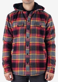 Rip Curl Men's Pena Regular-Fit Plaid Fleece-Lined Hooded Flannel Shirt