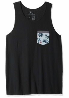 Rip Curl Men's Pocketeer Heritage Pkt Tank Charcoal S
