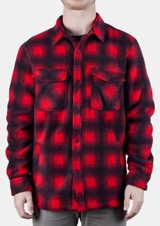 Rip Curl Men's Porter Anti-Series Regular-Fit Fleece-Lined Plaid Flannel Shirt