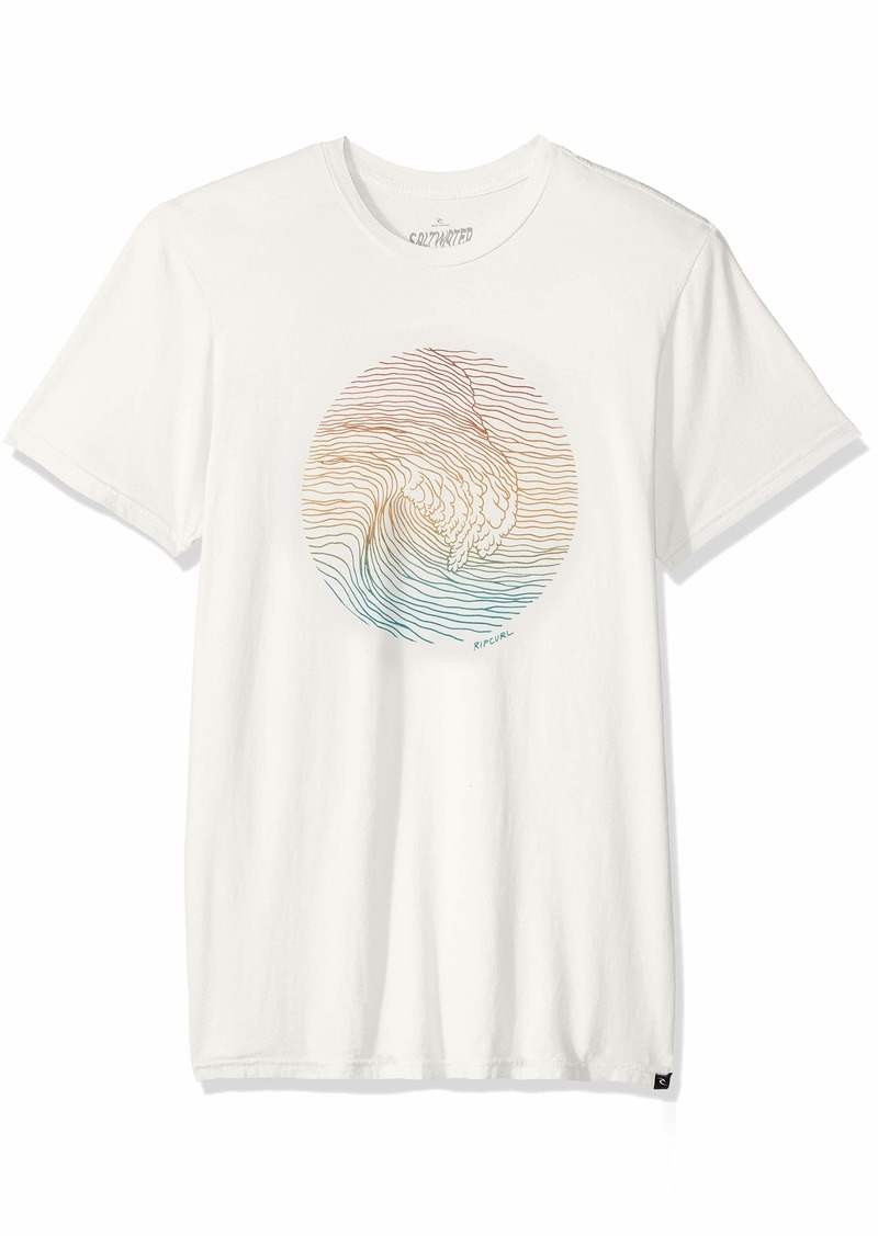 Rip Curl Men's Right Division Heritage T Shirt Off  S