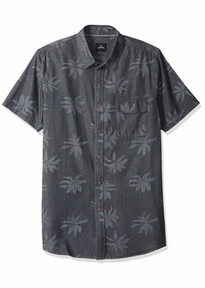 Rip Curl Men's Santos S/S Shirt Charcoal XL