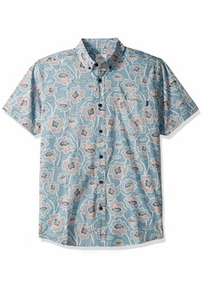 Rip Curl Men's Sun Drenched Short Sleeve Button Up Shirt  L