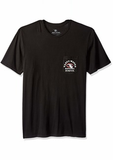 Rip Curl Men's Tasty Waves Heritage Pocket Tee Black M