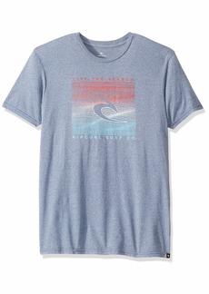 Rip Curl Men's Topography Mock Twist TEE Shirt  2XL