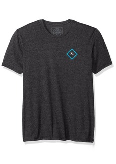Rip Curl Men's United Mock Twist Tee Black Blue Heather L