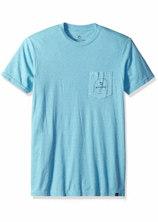 Rip Curl Men's Unity Heather Pocket Tee Aqua 2XL