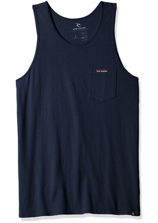 Rip Curl Men's Washed Out Heritage Pocket Tank Navy M