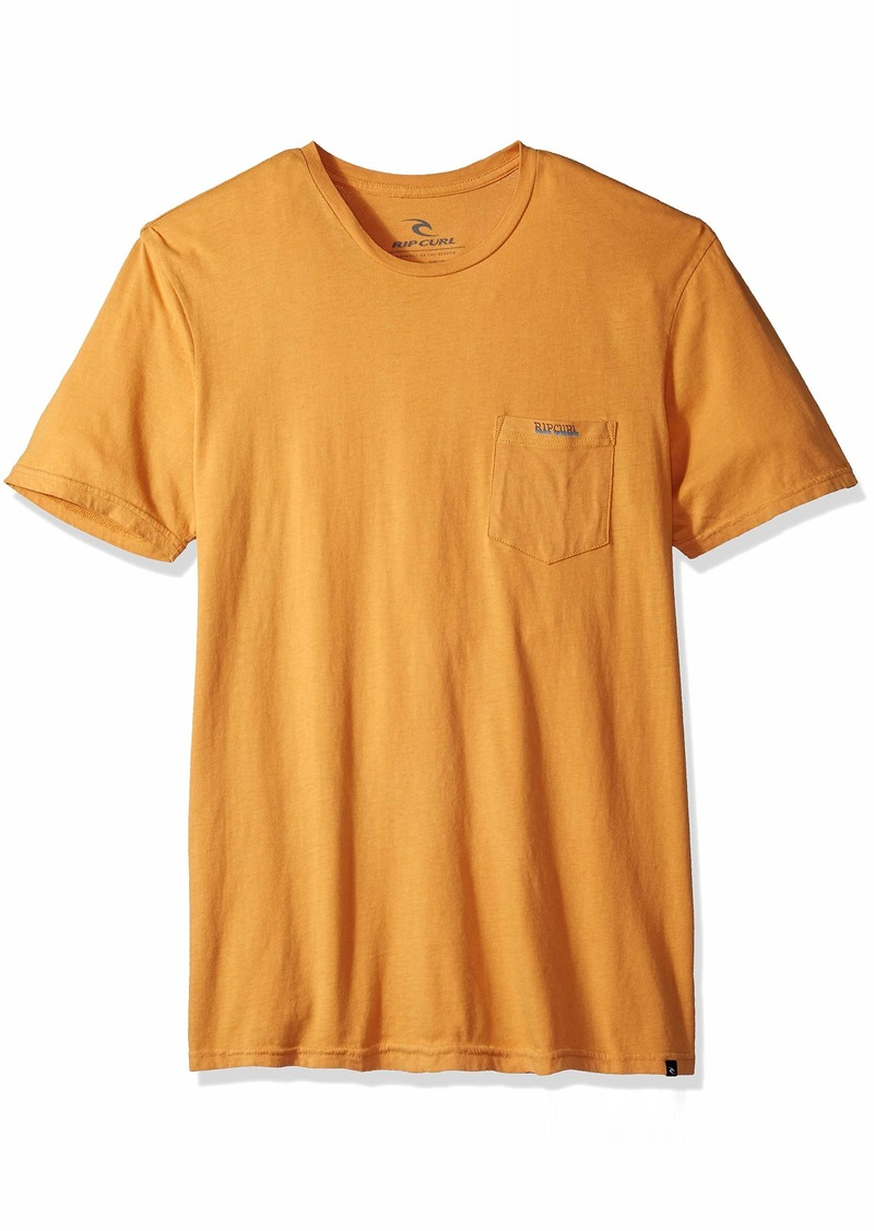 Rip Curl Men's Washed Out Heritage Pocket Tee Gold S