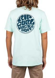 Rip Curl Men's Wettie World Logo Graphic T-Shirt