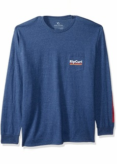 Rip Curl Men's World Famous Premium Pocket Long Sleeve  M