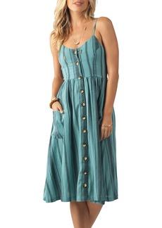 Rip Curl My Tide Stripe Knee Length Dress