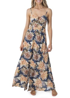 Rip Curl Sunsetters Floral Print Maxi Dress