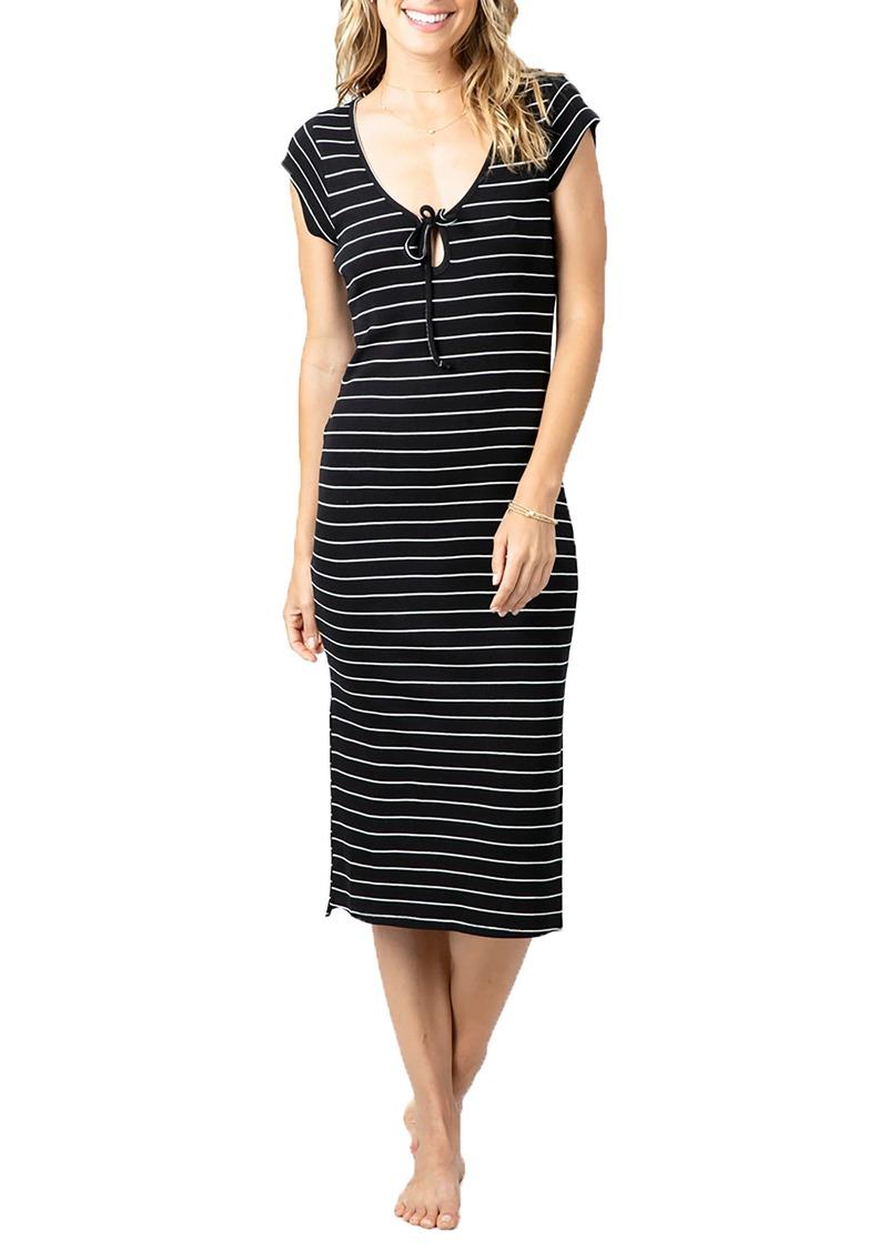 Rip Curl Surf Essentials Stripe Midi Dress