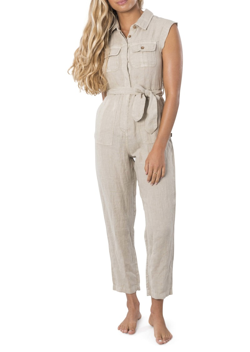Rip Curl The Off Duty Linen Jumpsuit